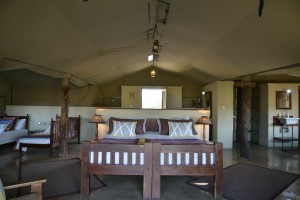 the hide national park tent bedroom