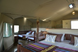 the hide national park tent double bedroom