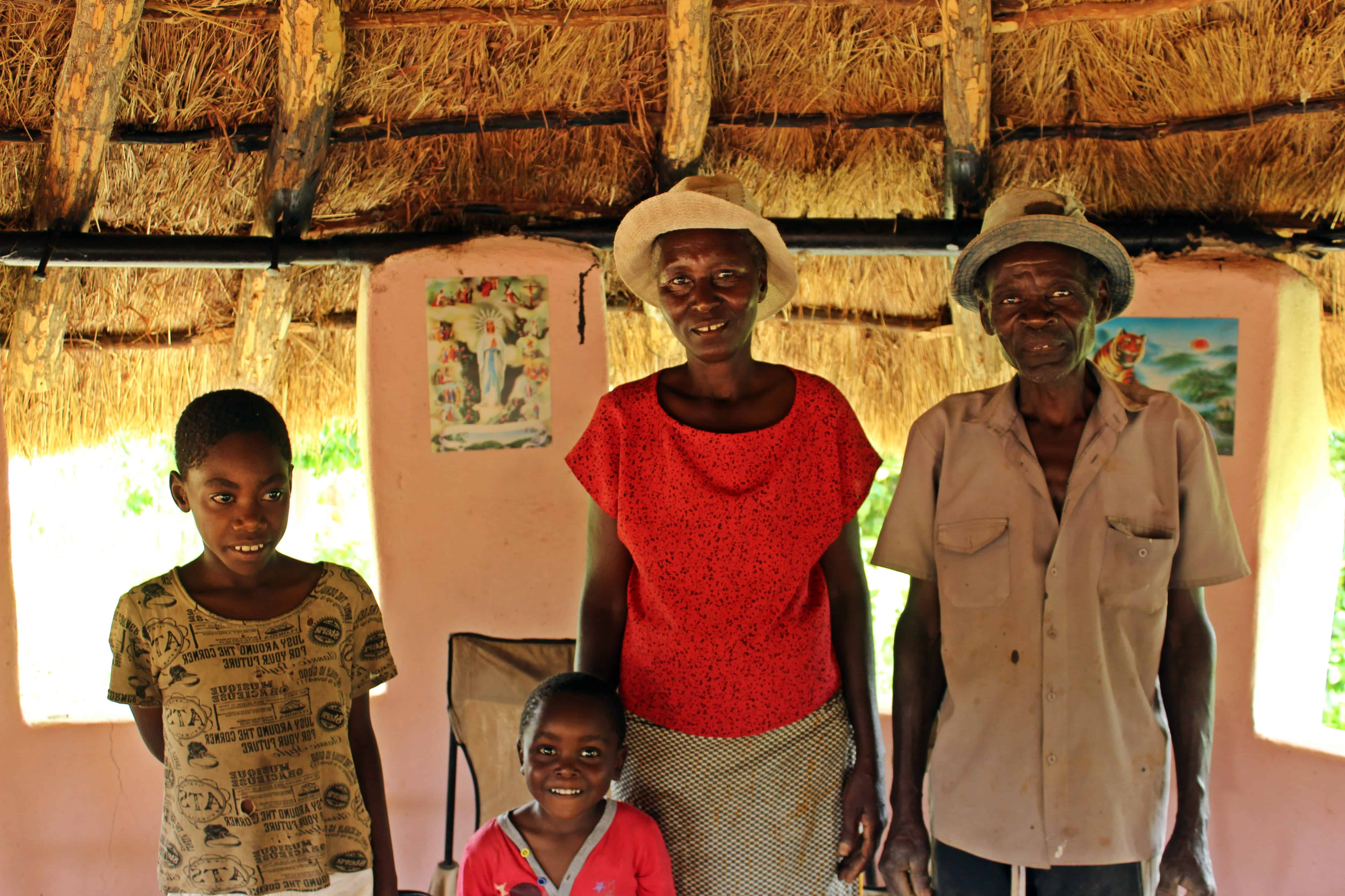 Loveness Dube and her family