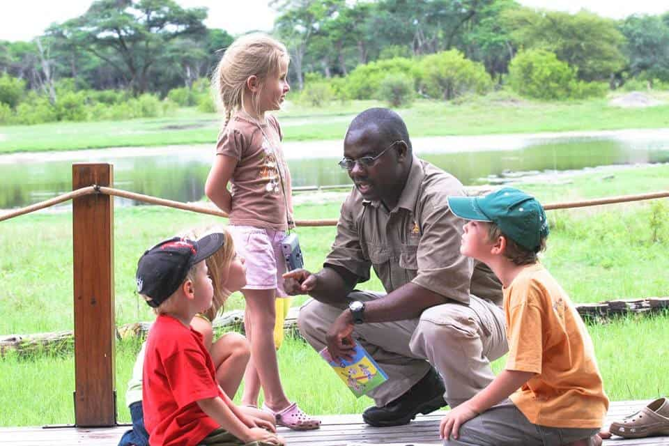 Children on Safari With Guide The Hide