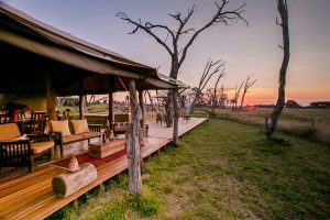 Private Hide Outside Seating Area Hwange National Park