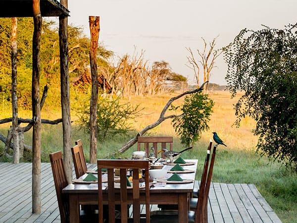 Lunch in the bush - The Hide Safari Camp