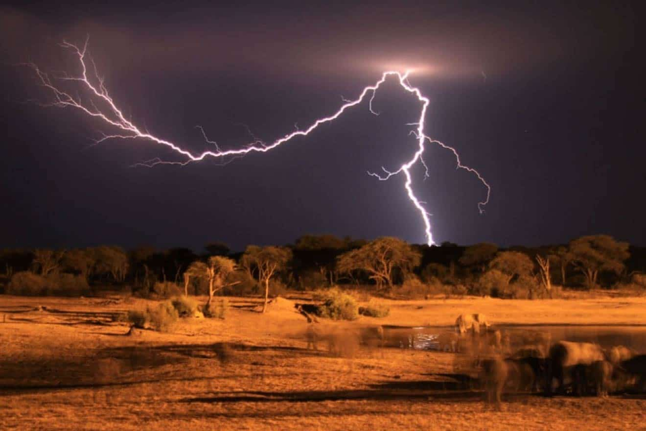 Lightning The Hide Hwange National Park